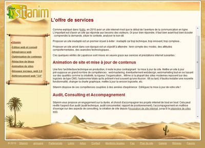 animation de contenus web sitanim